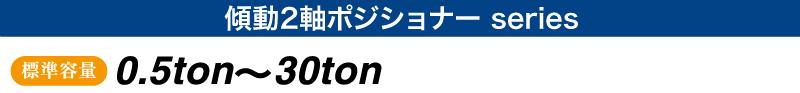 傾動2軸ポジショナー シリーズ